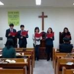 昨年のクリスマスの特別賛美、「キリストの愛 我に迫れば」を歌いました。