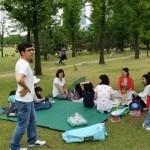 2014年6月1日(日)、日帰り修養会。松都(ソンド)子ども公園で集合待ち。