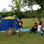 2014年6月1日(日)、日帰り修養会。松都(ソンド)子ども公園、テントまで張りました。