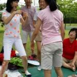2014年6月1日(日)、日帰り修養会。松都(ソンド)子ども公園。ゲームの真っ最中。