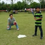 2014年6月1日(日)、日帰り修養会。松都(ソンド)子ども公園。男性陣は野球。