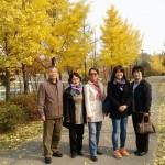 2014年11月6日(木)、木曜祈祷会後の紅葉狩り。