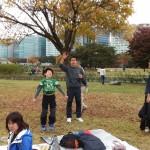 2014年10月26日(日)、日帰り修養会。一山(イルサン)湖水公園。次はゲームだよー。