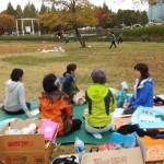2014年10月26日(日)、日帰り修養会。一山(イルサン)湖水公園。見張り兼おしゃべり。