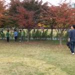 2014年10月26日(日)、日帰り修養会。一山(イルサン)湖水公園。宝探し。
