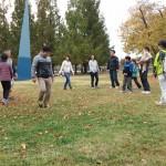 2014年10月26日(日)、日帰り修養会。一山(イルサン)湖水公園。チーム対抗戦。