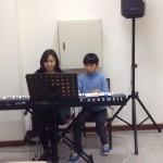 2014年12月22日(日)、クリスマス祝会。親子演奏。