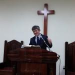 2015年4月5日(日)、かつての教会員、藤枝宗浩牧師がメッセージをしてくださいました。