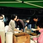 2015年4月25日(土)、桂山中央教会のバザーに、日本うどん店で参加。日本の材料を取り寄せて大成功。