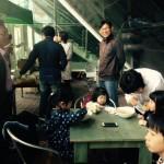 2015年4月25日(土)、桂山中央教会のバザーに、日本うどん店で参加。