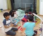 2015年5月3~4日(土日)、1泊の修養会。みことばの家。日曜学校は風船遊び。