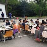 16年5月14日(土)のキャンプ。ちょっと早い夕食、バーベキューです。