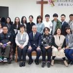 19年4月7日、教会創立15周年記念礼拝後に。