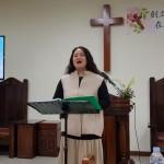 19年4月7日、教会創立15周年記念礼拝の特別賛美。