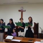 19年4月28日、浅草橋教会の兄姉の特別賛美。