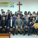 2014年4月6日、創立10周年記念礼拝。特別に駆けつけてくださった方々もともに。