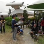 2012年、秋のキャンプ。野外昼食後のまったりした時間。